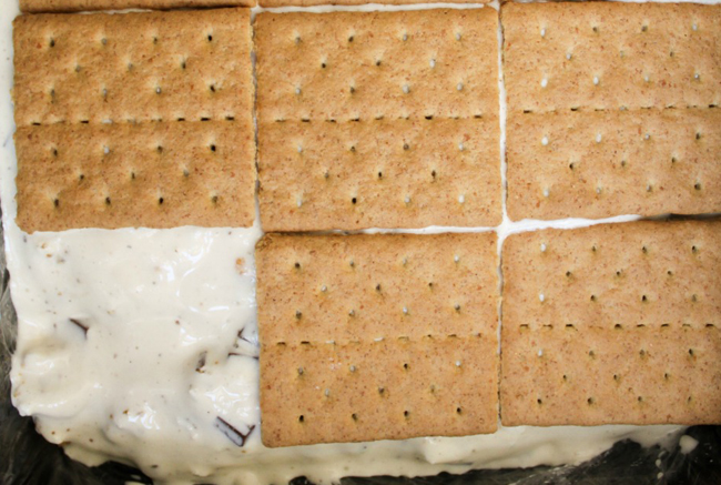 ice cream smores steps Letnja poslastica: Sladoled sendvič