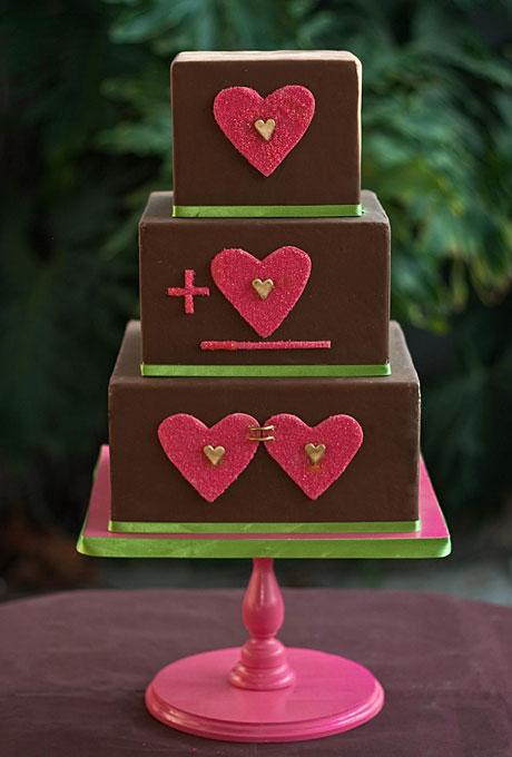 love themed wedding cake ideas 06 Torte za venčanja: Desert ukrašen srcima