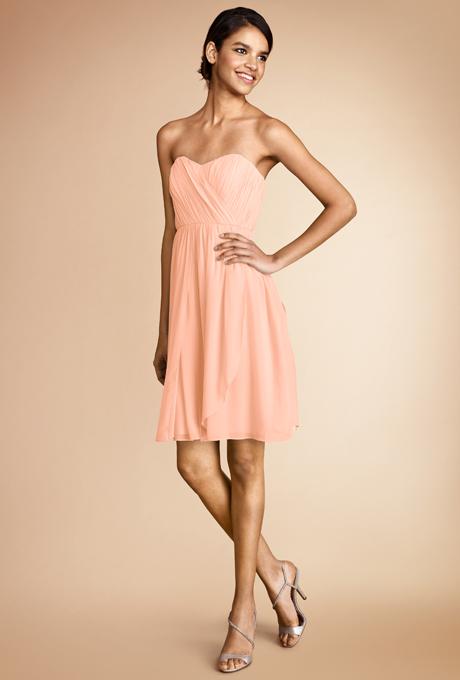peach bridesmaid dresses donna morgan blair Venčanje iz snova: Haljine za deveruše