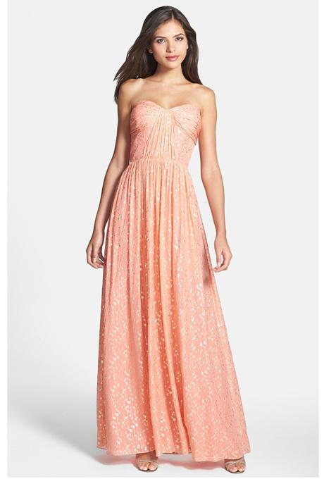 peach bridesmaid dresses erin erin fetherston Venčanje iz snova: Haljine za deveruše
