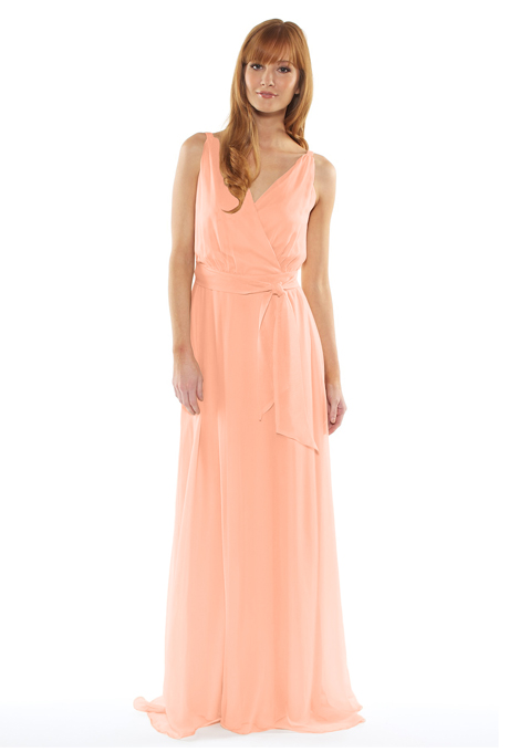 peach bridesmaid dresses swoon mona chfull apricot.front 24May2014 Venčanje iz snova: Haljine za deveruše