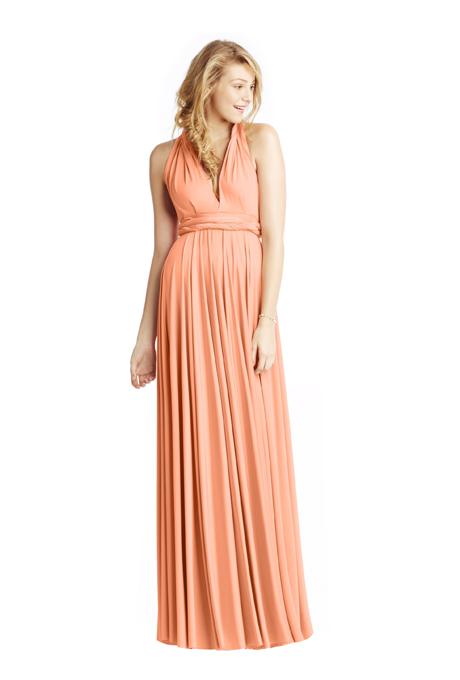 peach bridesmaid dresses two birds classic ballgown Venčanje iz snova: Haljine za deveruše