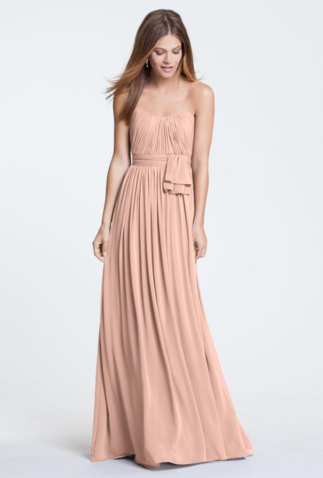 peach bridesmaid dresses watters 5514 peach.front 10Apr2014 Venčanje iz snova: Haljine za deveruše
