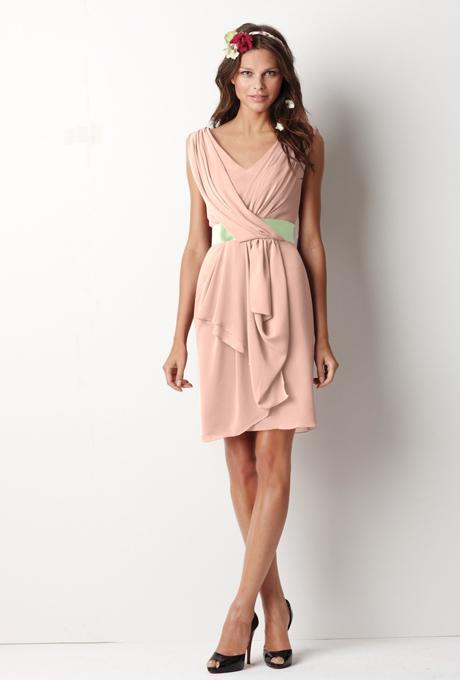 peach bridesmaid dresses watters 8518 peach front apple Venčanje iz snova: Haljine za deveruše