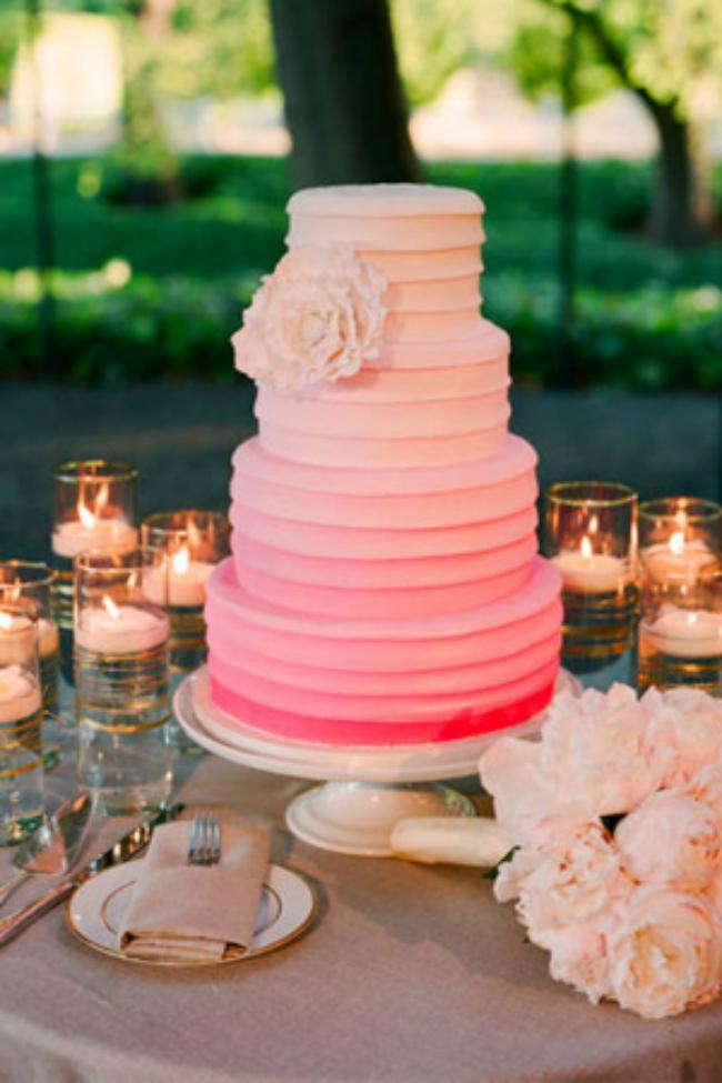 top 10 wedding decor trends ombre Cvetni aranžmani koje volimo