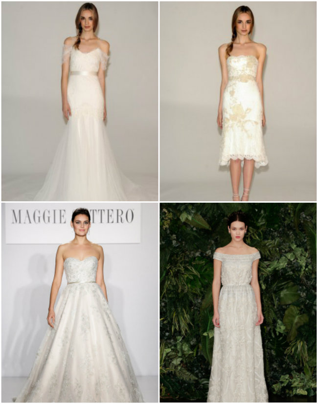 Collage 2 Haljine za venčanje: Pravo sa modne piste