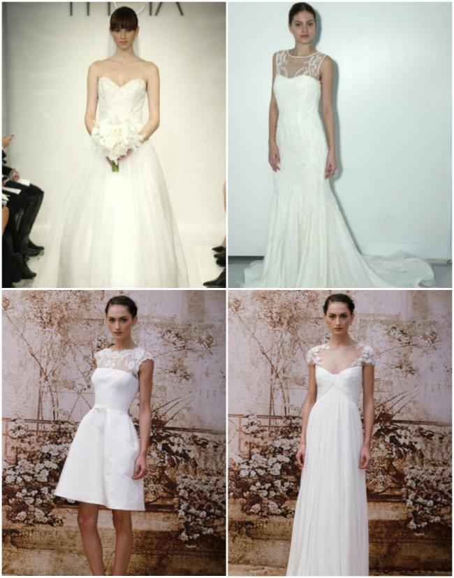 Collage 3 Haljine za venčanje: Pravo sa modne piste