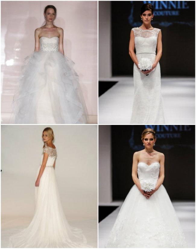 Collage 4 Haljine za venčanje: Pravo sa modne piste