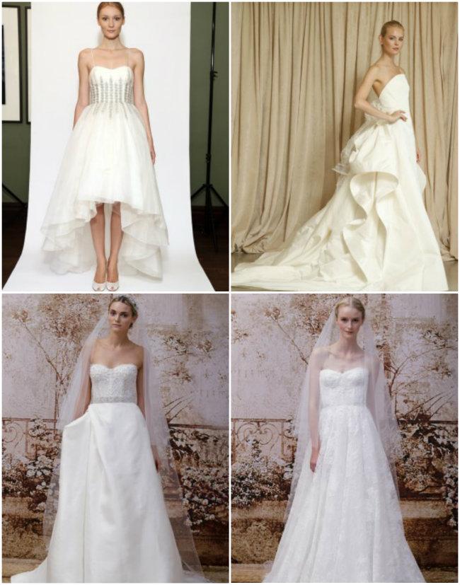 Collage1 Haljine za venčanje: Pravo sa modne piste