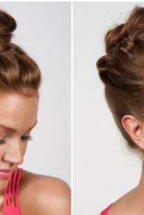 Moderna frizura: Punđa sa pletenicom