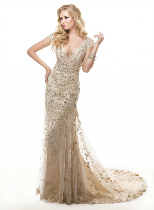 haljine za vencanje metalik vencanice maggie sottero Haljine za venčanje: Metalik venčanice