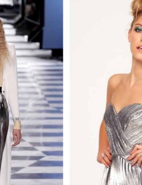 Modni predlog za kume: Metalik plisirana suknja