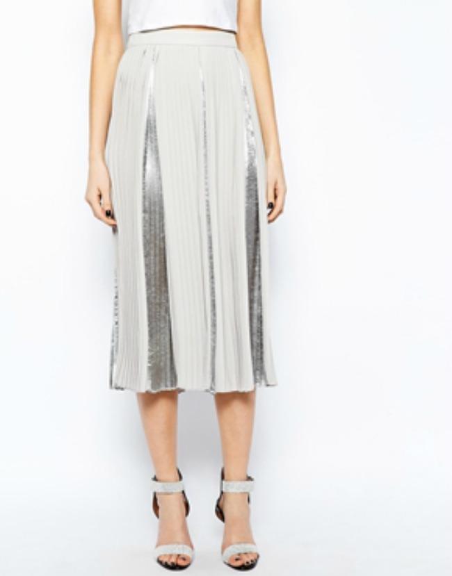 modni predlog za kume metalik plisirana suknja asos Modni predlog za kume: Metalik plisirana suknja