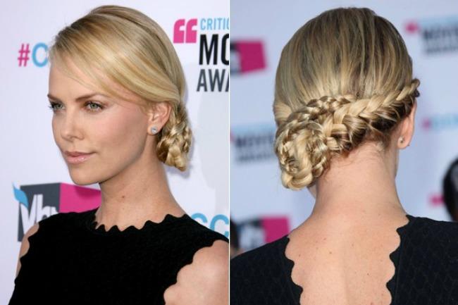 stajlis frizure za mlade elegantne pletenice sarliz teron Stajliš frizure za mlade: Elegantne pletenice