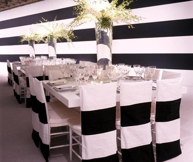 svadbena dekoracija crno belo1 Svadbena dekoracija: Crno bela klasika!