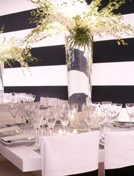 Svadbena dekoracija: Crno-bela klasika!