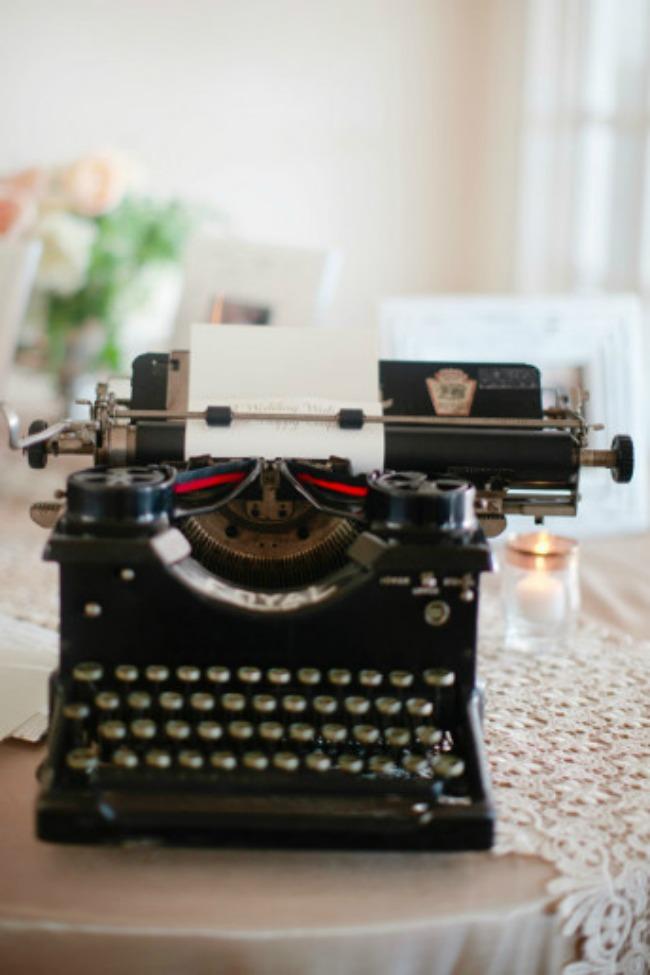 dekoracija 7 kreativnih ideja za vase vencanje pisaca masina Dekoracija: 7 kreativnih ideja za vaše venčanje