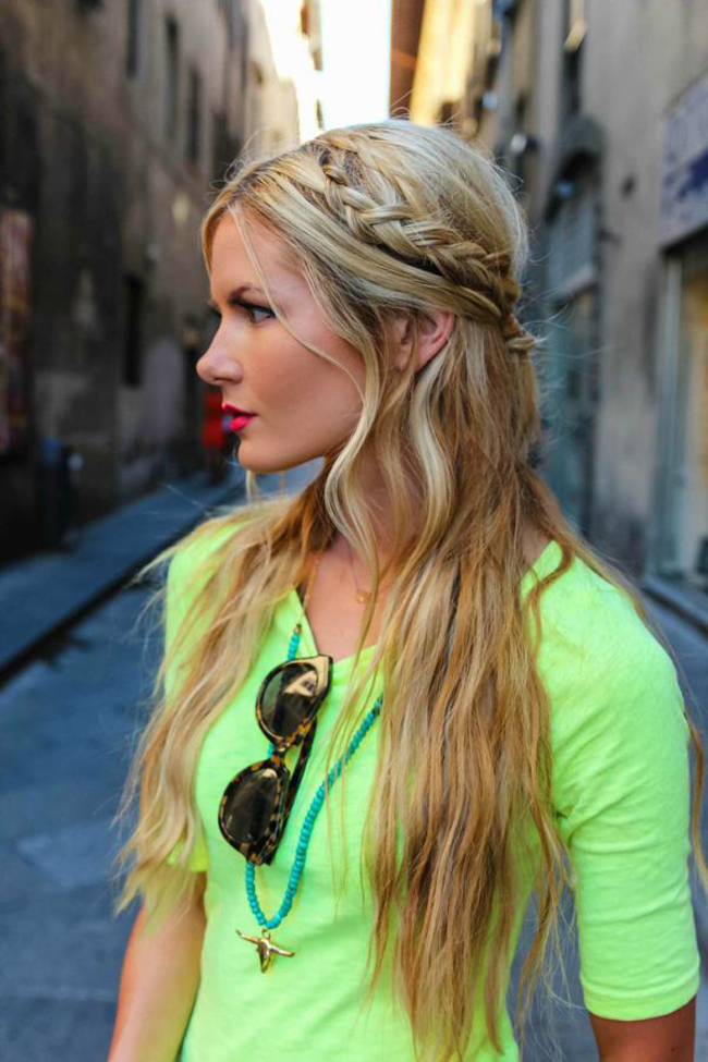 pletenica Izgledaj kao princeza: Frizure za venčanje