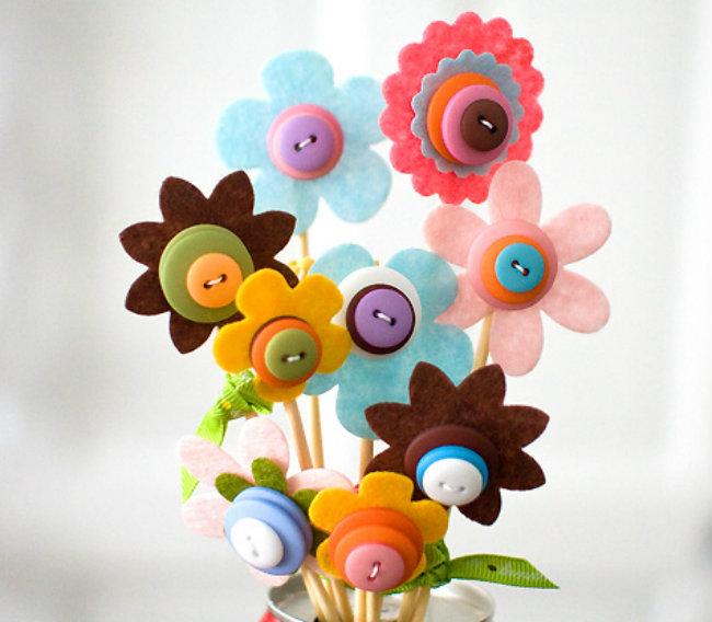 Button Bouquet Aktivirajte vaše klince za vreme kišnih dana