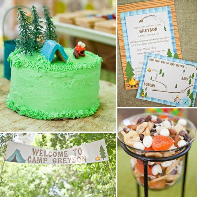 Cute Camping Inspired First Birthday Party Dekoracijom do nezaboravnog rođendana