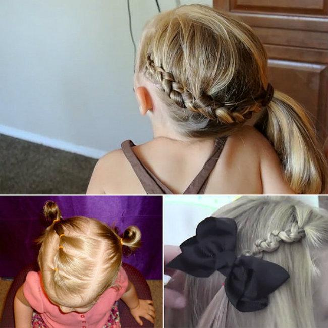 frizura za mališane Video tutorijali: Brze frizure za nestrpljivu ćerku
