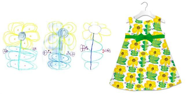 haljina1 Dečiji crteži na jastucima i haljinama