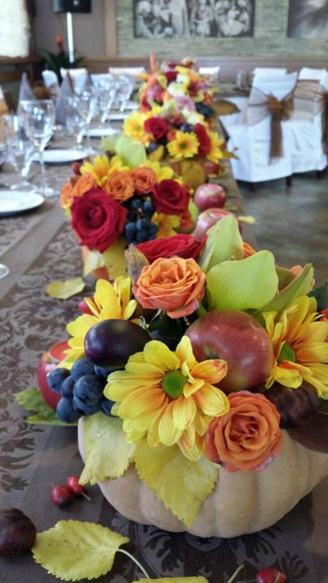kumbara cvetna dekoracija1 Vaše jesenje venčanje u najlepšem ambijentu restorana Kumbara
