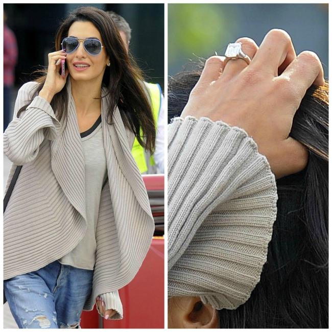 najlepse verenicko prstenje poznatih lepotica amal alamudin Najlepše vereničko prstenje poznatih lepotica