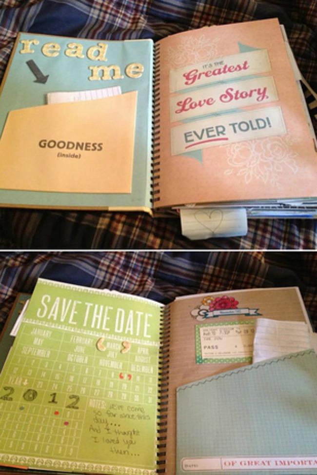 romanticne ideje za vase vencanje knjiga pisama Romantične ideje za vaše venčanje