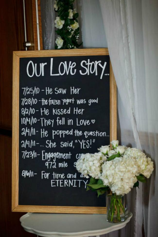 romanticne ideje za vase vencanje tabla sa datumima Romantične ideje za vaše venčanje