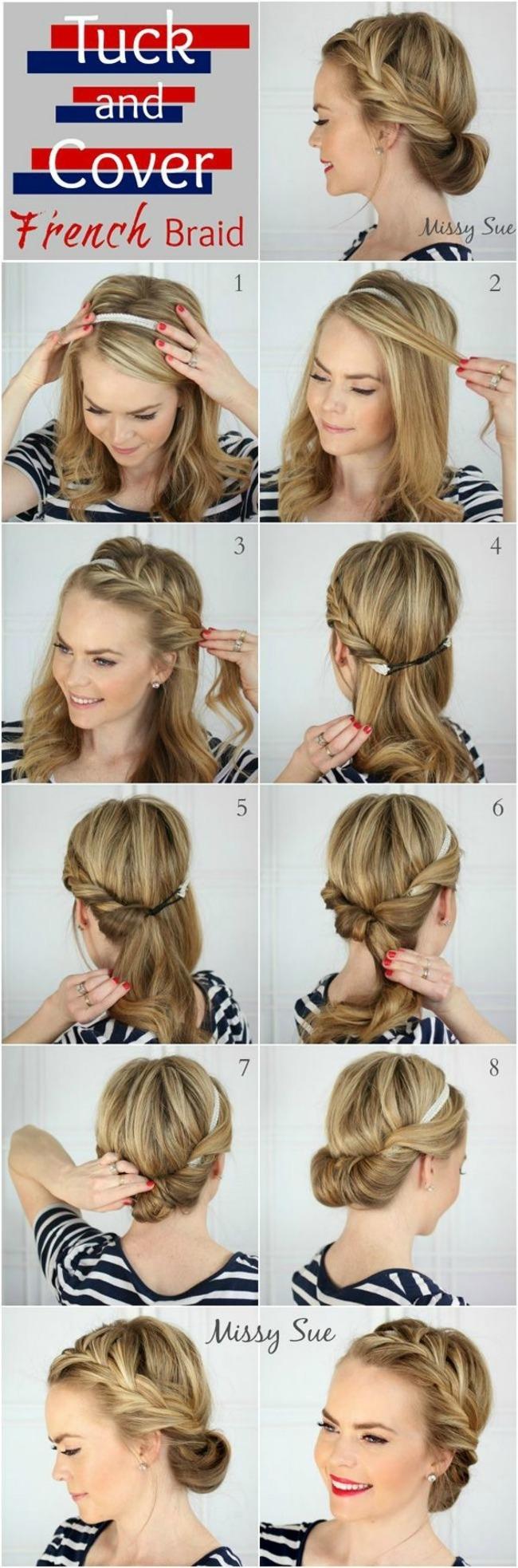 stajlis frizure za vencanje sa pinteresta elegantna francuska pundja pletenica Stajliš frizure za venčanje sa Pinteresta