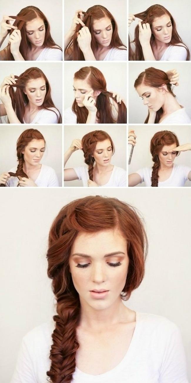 stajlis frizure za vencanje sa pinteresta letnja pletenica prebacena na jednu stranu Stajliš frizure za venčanje sa Pinteresta
