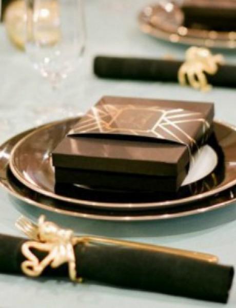Crno i zlatno: Idealna kombinacija za venčanje