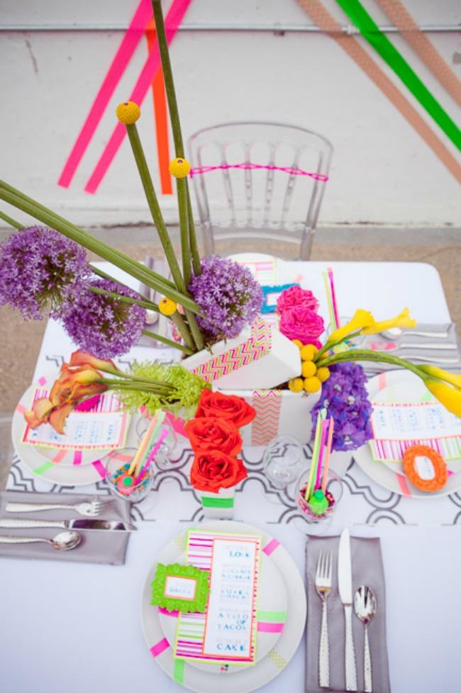 izaberite fluorescentne boje za vencanje 6 Izaberite fluorescentne boje za venčanje