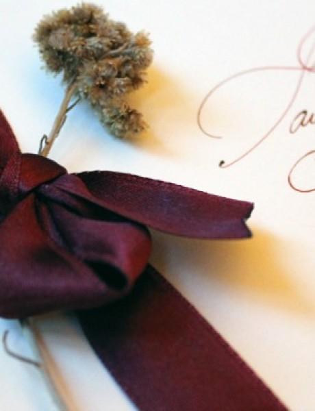 Originalna pozivnica za venčanje