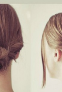 Laka frizura za kume: Niska punđa