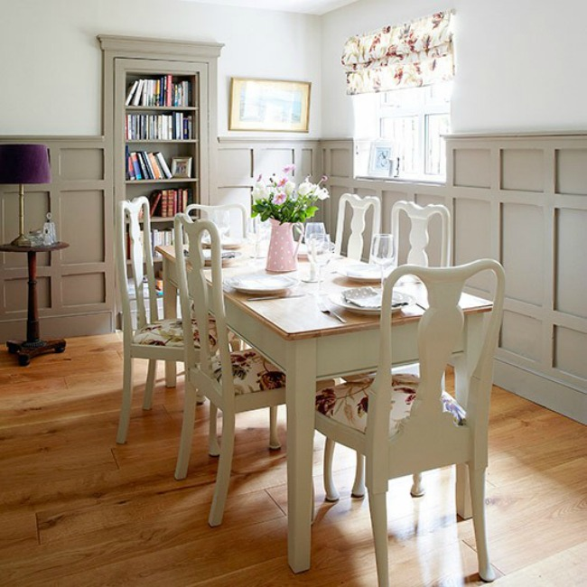 Painted dining furniture in panelled dining room Country Homes and Interiors Housetohome.co .uk  Zanimljiva dekoracija za trpezariju