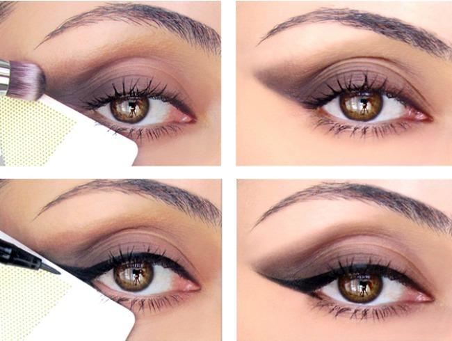 embedded credit card eyeliner trick Nanesi ajlajner kao profesionalac