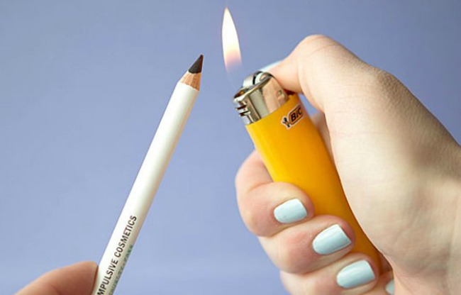 embedded soften eyeliner pencil with lighter Nanesi ajlajner kao profesionalac
