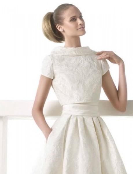 Moderna haljina za venčanje: Crop top venčanica
