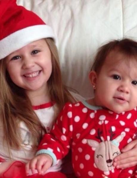 Deca u novogodišnjim pidžamama