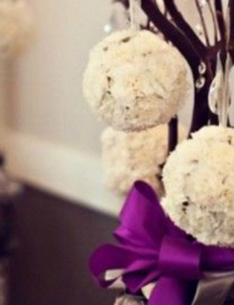 Novogodišnji ukrasi kao dekoracija na venčanju