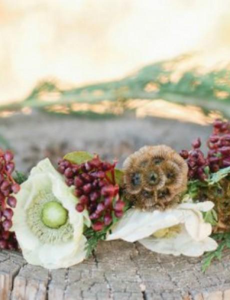 Uradi sama: Venčić za mlade od zimskog cveća