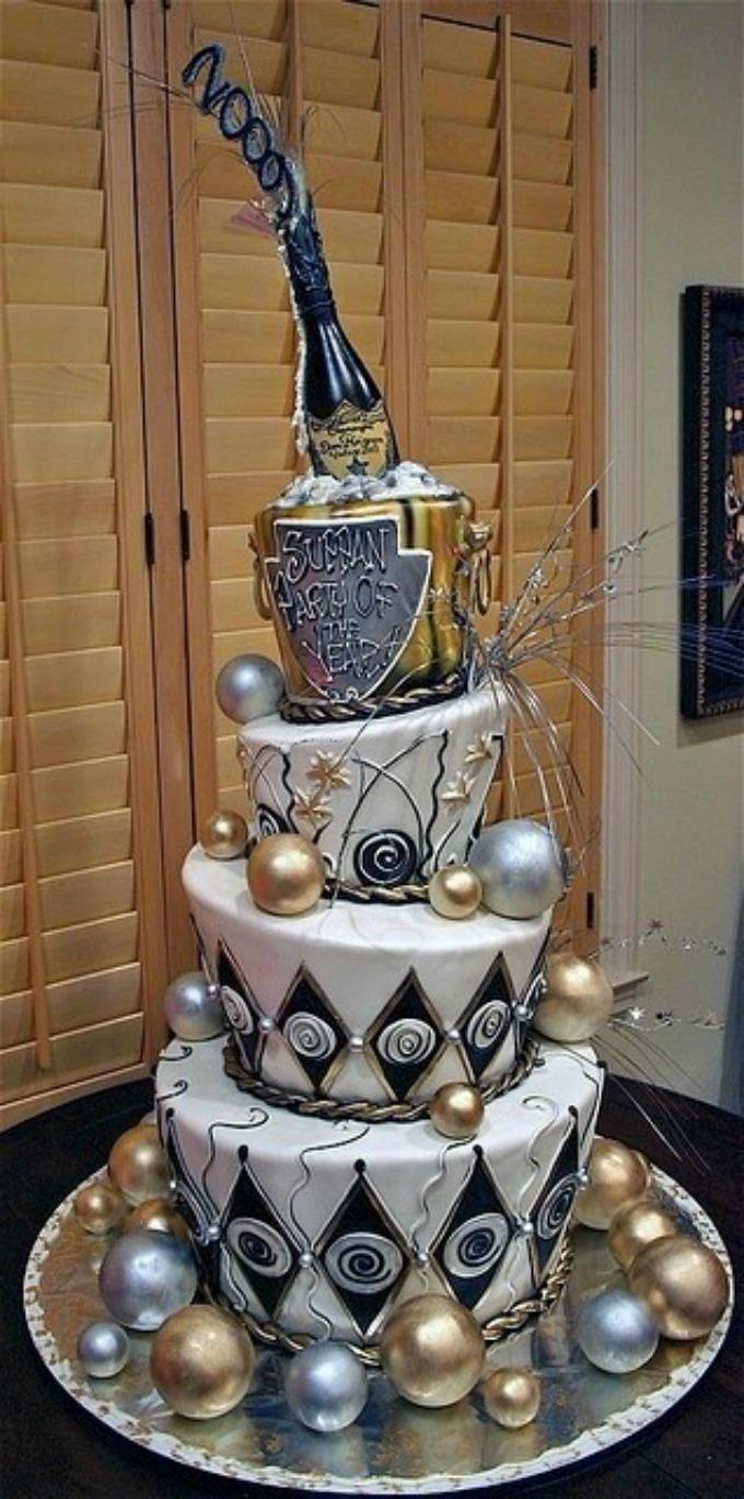 Novodišnja dekoracija na svadbenoj torti 4 Novodišnja dekoracija na svadbenoj torti