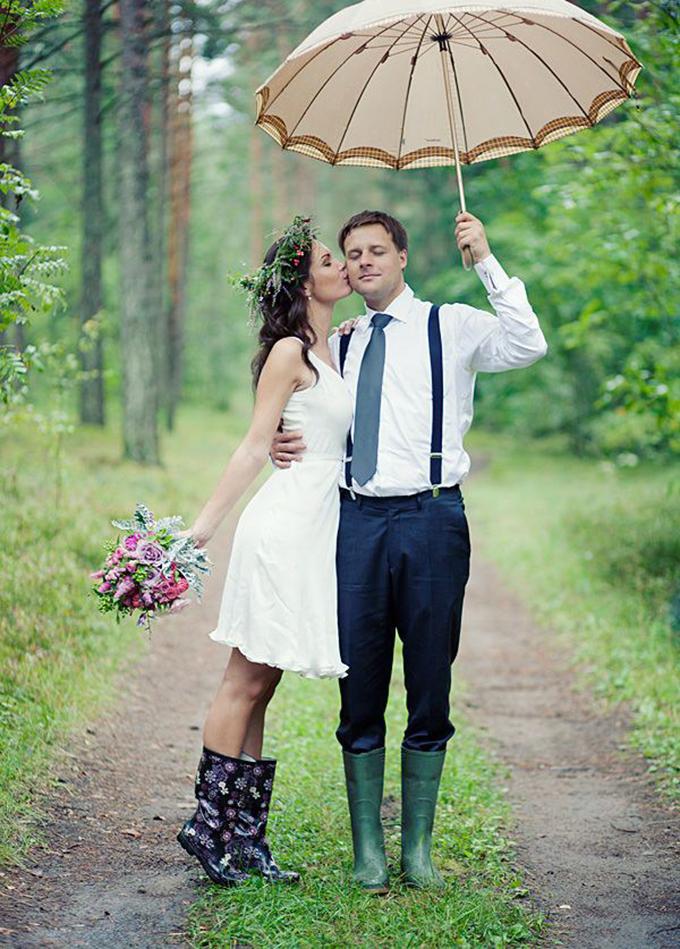 gumene cizme na vencanju 1 Moderne na venčanju: Gumene čizme