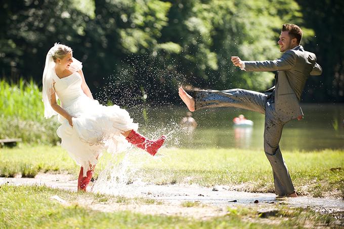 gumene cizme na vencanju 3 Moderne na venčanju: Gumene čizme