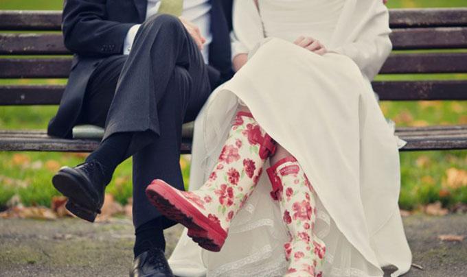 gumene cizme na vencanju 5 Moderne na venčanju: Gumene čizme