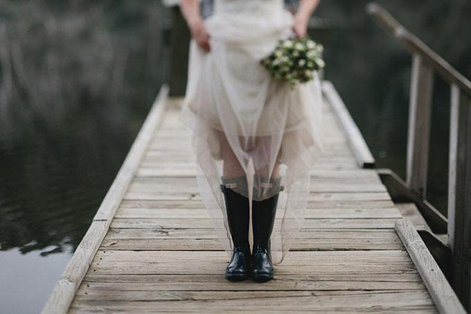 gumene cizme na vencanju 7 Moderne na venčanju: Gumene čizme