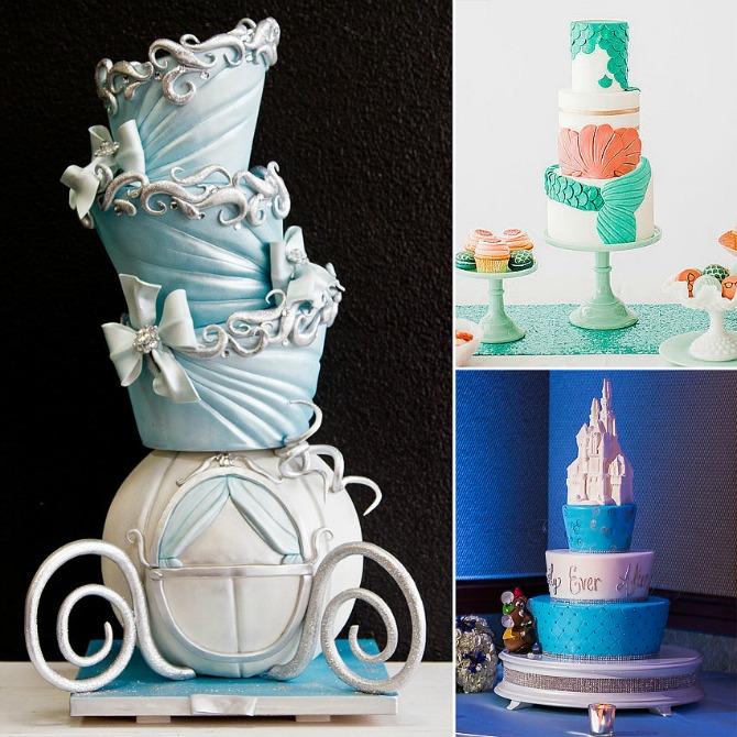 Disney Princess Wedding Cakes Diznijevi crtaći kao inspiracija za svadbene torte