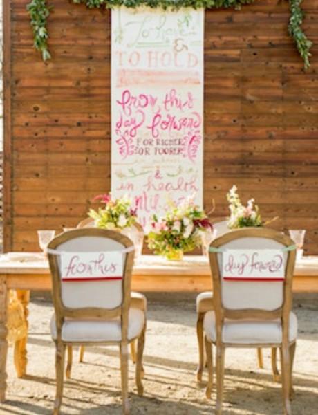 Umetnost lepog pisanja kao inspiracija za venčanje